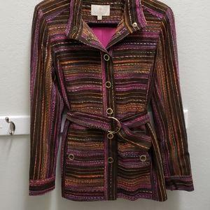 etcetera Multicolored Wool Blend Sz 4 Lined Blazer
